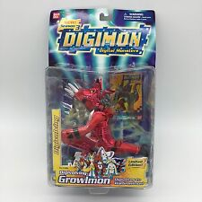 2002 Bandai Digimon Digivolving Growlmon Limited Edition #13364 Action Figure