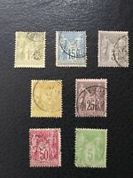 "France: 7 Diff Used ""Peace & Commerce"" Issues, #84 / 104,  Scott Value $ 19.70"
