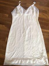 Vintage Movie Star Ivory Lace Slip Bridal Gown Sz 38