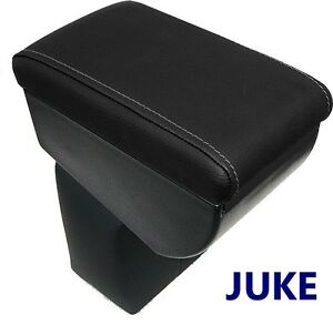 Armrest for NISSAN JUKE 2010-2019-BLACK +SILVER-GREY STITCHING -MADE IN ITALY -@