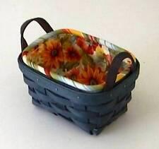 Longaberger Tea or Small Key Fabric LINER - SUNFLOWER - NEW - Cute!!