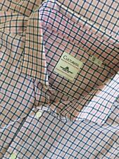 Culturata Thomas Mason Dress Shirt sz 16.5 35 L Pink White Blue