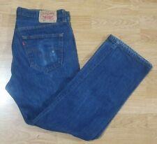 Levis 501 Jeans Denim Classic Fit Pierna Recta Cierre De Botones Azul Talla W36 L30