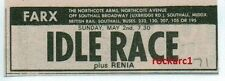 IDLE RACE (ELO) UK TIMELINE Advert - FARX Southall  Sun 2-May-1971  3x1  inches