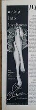 1957 women's step into Ceil Chapman stockings hosiery legs vintage fashion ad