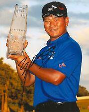 K.J CHOI signed 8x10 PGA PLAYERS CHAMPIONSHIP TROPHY photo with COA