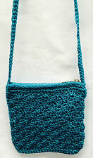 Handmade fully lined Gorgeous Crochet Handbags,comes in Emerald Green