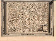 SCHWABEN zweiteilige Landkarte von Pieter van der Aa 1720 - schönes Original!