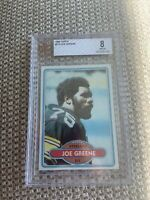 BVG 8 NM-MT MEAN JOE GREENE HOF 1980 TOPPS #175 GRADED NM-MINT NFL STEELERS BGS
