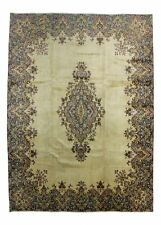 ANTIQUE TRADITIONAL PERSIAN Wool  9.3 X 12.7 HANDMADE RUGS ORIENTAL RUG CARPET