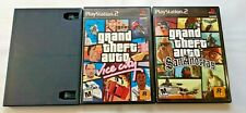 Lot Of 3 GTA PS2 Games 3 III Vice City San Andreas Trilogy Tested PlayStation 2