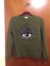 KENZO Paris Women's Eye Embroidered Crew Sweater Pullover Size: M