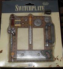 Light Switch Dual Wall Plate FIGI Carpenter Hand Panted Cool!!!