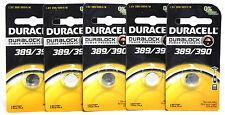 100x Duracell 389 390 Battery Duralock 1.5V Sr54 Silver Oxide Button Watch Coin