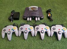 NINTENDO 64 Console (N64) + 4 Controllers + Mario Kart 64 BUNDLE *PAL*FREE POST