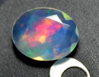 1.50 TCW 7x11mm Genuine Ethiopian Welo fire  Opal Faceted Opal cut stone  Opal stone  Oval  Opal for jewelry  Opal  opal collection