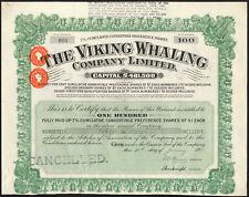 Norvège: Viking Whaling Company Ltd., 100, 7% des actions de préférence de £ 1, 1931, EF