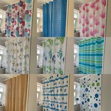 PEVA Printed Shower Curtain Including 12 Matching Rings 18 Great Colours designs