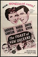 1951 THE TOAST OF NEW ORLEANS Kathryn Grayson ORIGINAL ONE 1-SHEET MOVIE POSTER