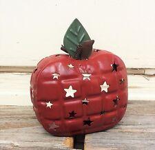 THT Prim Decor - Metal Apple Tealights Teacher Harvest 1pc