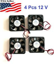 4 Pcs 5V 12V 24V 50mm Cooling Computer Fan 5010 50x50x10mm DC 3D Printer 2-Pin