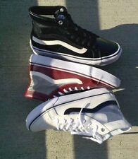 New Vans Sk8 Hi Slim Cutout Mesh Port Wine Shoes Mens 6 Womens 7.5 Sneakers