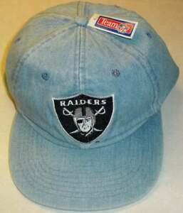 Los Angeles Raiders Denim Style New Era Vintage 90s Strapback hat New Bo Jackson