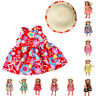 Fashion Handmade Doll Clothes Dress Cap For 18 inch American Girl Doll New Born