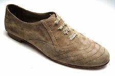 Donna Carolina Schuhe Nubuk Leder Schnürschuhe Gr 40,5 (UK 7) beige Sand