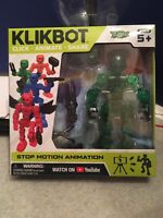 Zing KLIKBOT Stop Motion Animation Figure HELIX Green NEW