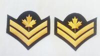 Canadian Military Master Corporal DEU Dress Uniform Rank Black Wool (Set of 2)