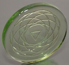 High Quality Scalar Quantum Energy Negative Ion Chakra Mini Glass Disc (1000 cc)