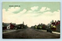 Anaheim, CA - c1913 BROADWAY STREET SCENE - DIRT ROAD & OLD CAR - POSTCARD