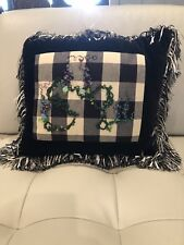 Hand Beaded Decorative Pillow