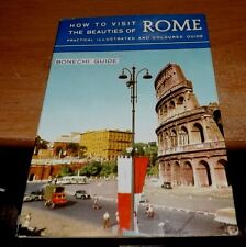 Vintage late 1950s early 1960s BONECHI How to Visit the Beauties of Rome Book