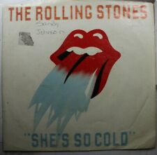 Rock Picture Sleeve 45 The Rolling Stones - She'S So Cold / Send It To Me On Rol