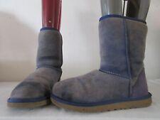 GENUINE UGG AUSTRALIA BLUE SUEDE PULL ON BOOTS UK 4.5 EU 37 (3224)