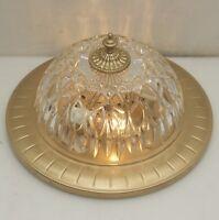 Antik Stil Decken Lampe Plafoniere Messing Ø32cm Glas Flush Mount Led Light Alt