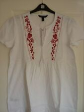 LONG TALL SALLY WHITE JERSEY RED FLORAL TOP. UK 18-20, EUR 46-48, US 14-16. BNWT