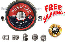 Crosman Round Nose Ultra Magnum Air Gun Pellets .22 Caliber Premier 500 Count