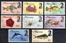 Mauritius QE II Part set to 1Rupee fine used 1969-73  [M7905]