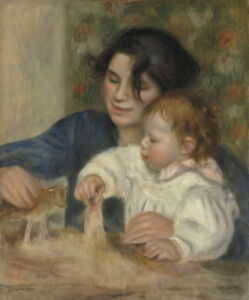 Auguste Pierre Renoir Gabrielle and Jean Giclee Canvas Print Paintings Poster