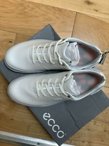 Golf Ecco Biom Cage Pro Womens Shoes White/Silver/Pink Size 41