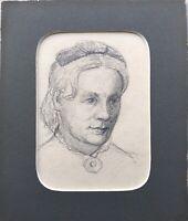 August Schiott 1823-1895 Dibujo Retrato Mujer Retrato De A Mujer Collar