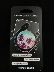 AUTHENTIC PopSockets Phone Grip PopSocket Universal Phone Holder - Palm Trees