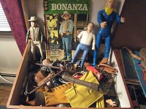 Bonanza TV SHow action figures and assorted accessories