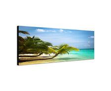 120x40cm Malediven Panorama unberührte Natur Strand Palmen azurblau Sinus Art