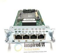NIM-4MFT-T1/E1 - Cisco 4 port Multiflex Trunk Voice/Clear-channel Data T1/E1 Mod