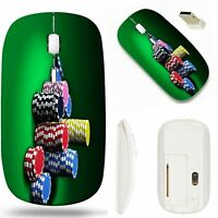 MSD Wireless Mouse White Base Travel 2.4G Wireless Mice with USB Receiver Noi...