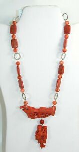 AMY KAHN RUSSEL Sponge Coral Toggle Clasp Necklace